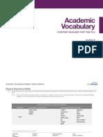 academic vocab science gr 05