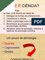 Ciência e Psicologia-Introdução