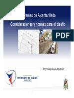 6.- Sistemas de Alcantarillado - 5 - Consideraciones y Normas Para El Diseño