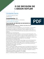 Proceso de Decisión de Compra Segun Kotler