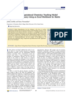 Introduction to Computational Chemistry Teaching Hückel Molecular Orbital Theory Using an Excel