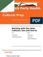 block party- cultural preparation