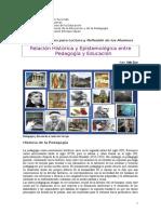 1.1. Relación Histórica Entre Pedagogía y Educación. Zeas 2016