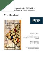 La Transposición Didáctica - Chevallard