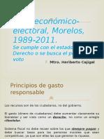 Ciclo Económico electoral, Morelos, 1989-2011.