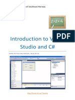 Introduction to Visual Studio and CSharp[1]