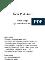 Topik Praktikum 22 Feb