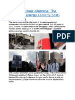 Japan's nuclear dilemma The search for energy security post-Fukushima.docx