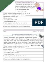 Ortografía a Partir de Textos Nivel Inicial 10 de 60