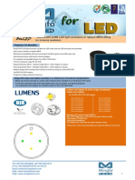 BuLED-30F-LUME LED Light Accessory to Replace MR16 Fitting for Lumens Modulars