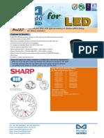 BuLED-50E-SHA LED Light Accessory to Replace MR16 Fitting for Sharp Modulars