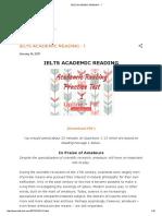 Ielts Academic Reading - 1