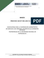 Bases Del Concurso Cas 2017 Unh Personal Docente