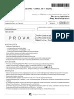 Prova Tecnico Juficiário - TRF 5 - FCC