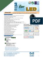 EtraLED-13020 Modular Passive LED Star Heat Sink Φ130mm