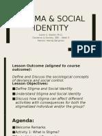 Stigma & Social Identity- Mini-Presentation