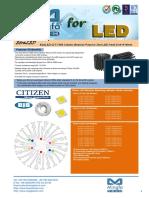 EtraLED-CIT-7080 Citizen Modular Passive Star LED Heat Sink Φ70mm