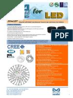 EtraLED-CRE-9680 Cree Modular Passive Star LED Heat Sink Φ96mm