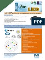 EtraLED-EDI-4880 Edison Modular Passive Star LED Heat Sink Φ48mm