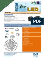 EtraLED-LG-7050 LG Innotek Modular Passive Star LED Heat Sink Φ70mm