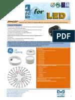 EtraLED-GE-11080 GE Infution Modular Passive Star LED Heat Sink Φ110mm