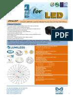 EtraLED-LUM-8550 for LumiLEDs Modular Passive Star LED Heat Sink Φ85mm