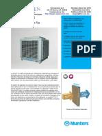 Alugen ficha técnica FCA-15T&B Enfriador Evaporativo Fijo