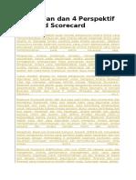 Pengertian Dan 4 Perspektif Balanced Scorecard
