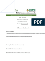 Formato de Elaboración Del Protocolo de Investigación