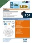 EtraLED-LUN-11080 Luminus Modular Passive Star LED Heat Sink Φ110mm
