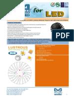 EtraLED-LUS-8520 Lustrous Modular Passive Star LED Heat Sink Φ85mm