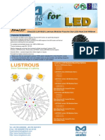 EtraLED-LUS-9620 for Lustrous Modular Passive Star LED Heat Sink Φ96mm