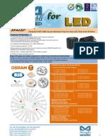 EtraLED-OSR-7080 Osram Modular Passive Star LED Heat Sink Φ70mm