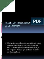 Fases e Tipos Do Procedimento Licitatório