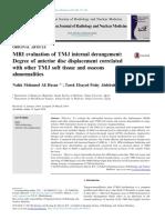 TMJ INTERNAL DERANGEMENT