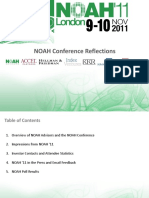 NOAH2011 Conference Reflections