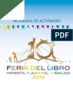 Programa Feria Del Libro 2010