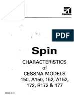 Spin Characteristics of Cessnas
