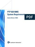 PTP820 NMS - System Rquirement - R15A00