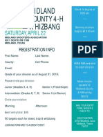 2017 Midland County 4-H Whizbang Flyer, Registration and Waiver