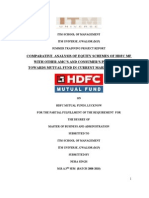 comparitive study of mutul funds with HDFC mutual fund