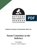 Rutgers Model Congress Topic Brief - Gun Rights
