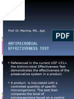 Kuliah 13, Antimicrobial Evectivesness Test