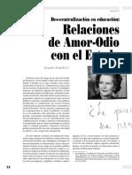 Des-Centralizacion en Educacion Relacion (1)