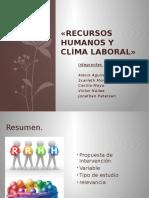 Recursos Humanos y Clíma Laboral