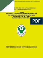 Permenkes No. 2348 Thn 2011 (Perbaikan Permenkes 356 Tentang Struktur Organisasi KKP)