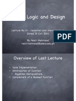 DLD Lecture No 14 Canonical Forms Dated 10 Oct 2014 Lecture Slides