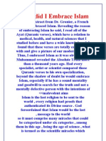 Why did I Embrace Islam?