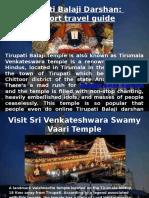 Tirupati Balaji Darshan Short Travel Guide
