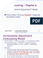 Incremental Adjustment Forecasting Model